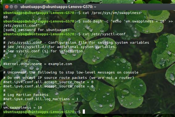 Swappiness Ubuntu Swapの使用頻度を下げる