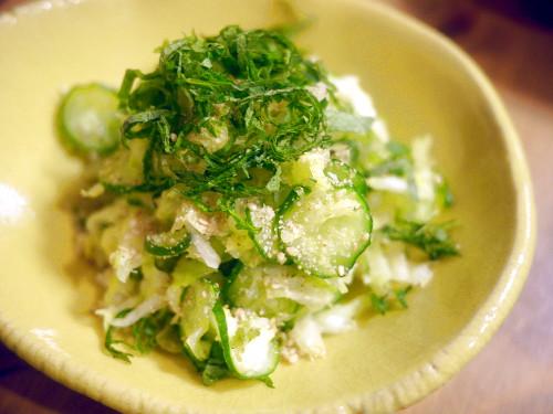 「きのう何食べた?」(よしながふみ)のきゅうりとキャベツの塩もみ