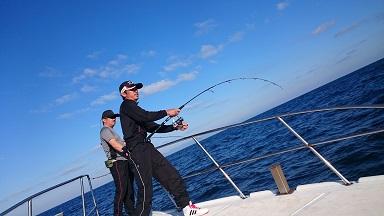 ①今日はいい天気に恵まれまさに釣り日和