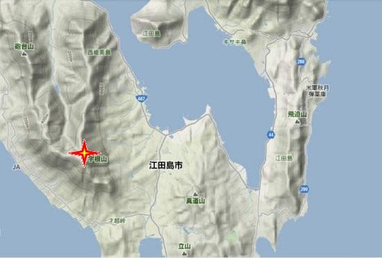 2)江田島町南部 宇根山