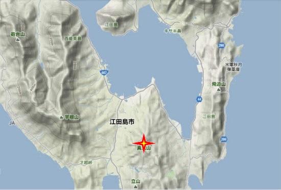 2)江田島町南部 真道山