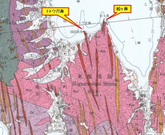 中町地質図(松ヶ鼻)