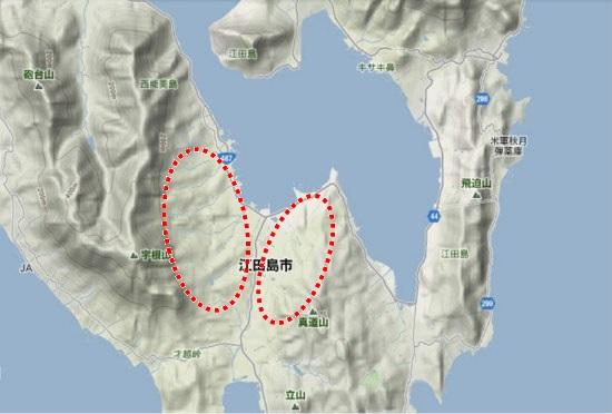 2)江田島町南部 中町農道