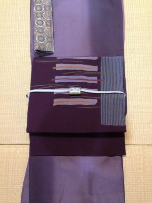紫×紫コーデ