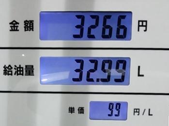 2月3日給油