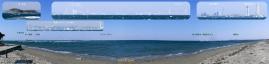 富津岬からパノラマ