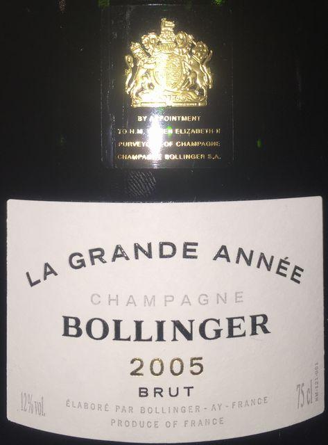 Bollinger La Grande Annee 2005