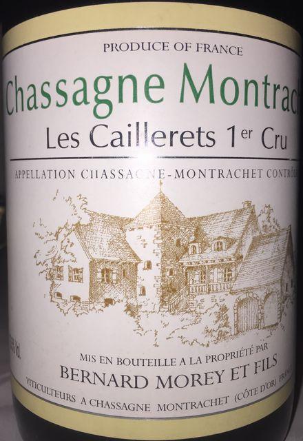 Chassagne Montrachet Les Caillerets 1er Cru Bernard Morey 2006