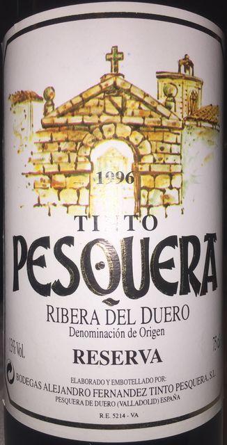 Tinto PESQUERA Reserva 1996