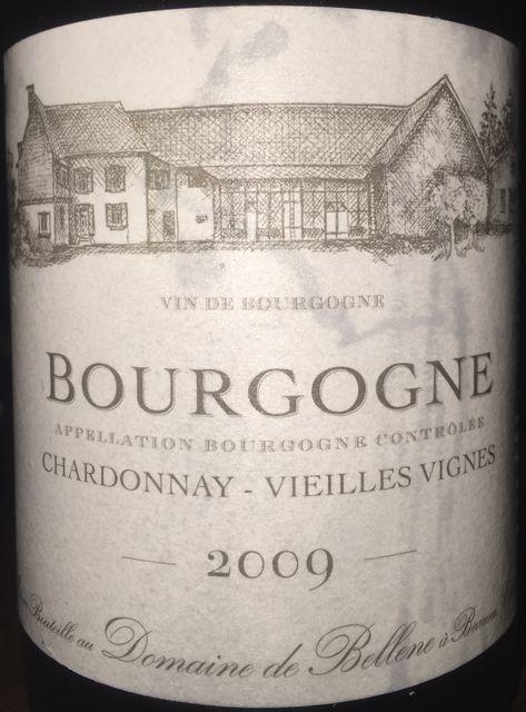 Bourgogne Chardonnay Vieilles Vignes Domaine de Bellene 2009