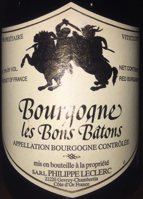 Bourgogne les Bons Batons Philippe Leclerc 2011