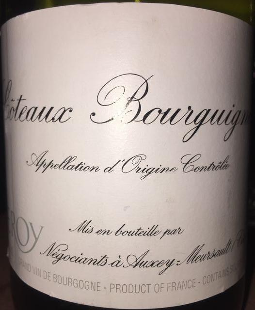 Coteaux Bourguignon Meson Leroy 2012