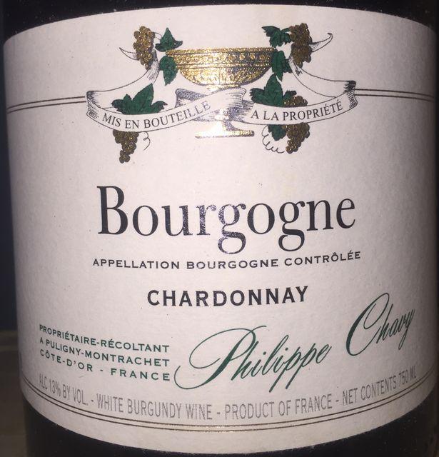 Bourgogne Blanc Domaine Philippe Chavy 2013