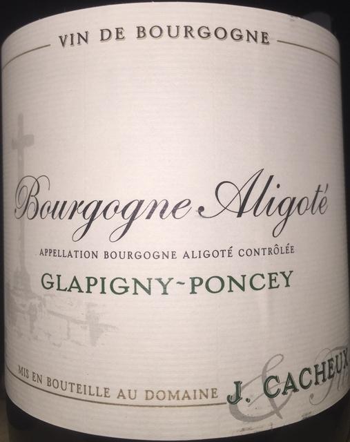 Bourgogne Aligote Glapigny Poncey J Cacheux 2005