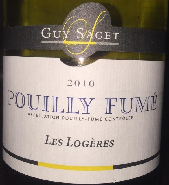 Pouilly Fume Les Logeres Guy Saget 2010