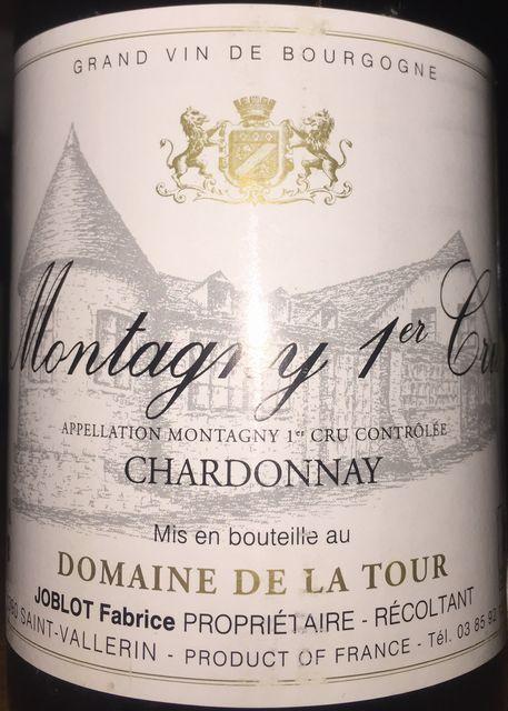 Montagny 1er Cru Chardonnay Domaine de la Tour 1990