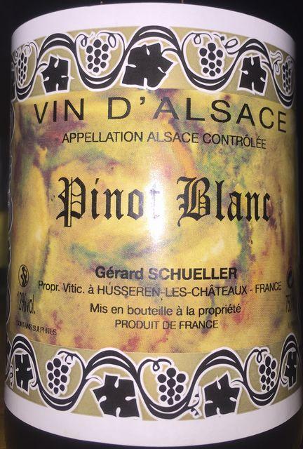 Pinot Blanc Gerard Schueller 2013