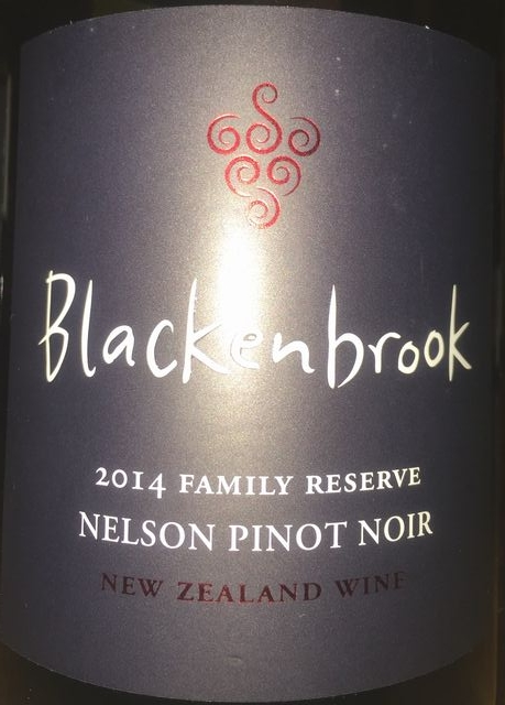 Blackenbrook Nelson Pinot Noir Family Reserve 2014