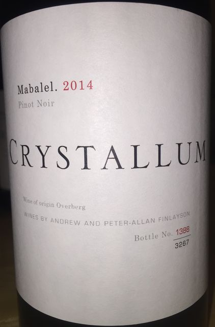 Crystallum Pinot Noir Mabelel 2014