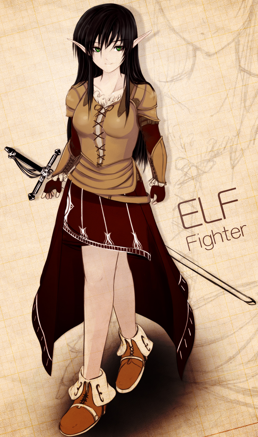 Elf Female Warrior