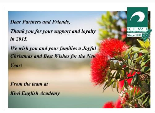 Christmas 2015 Kiwi English School