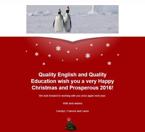 Christmas 2015 Quality English