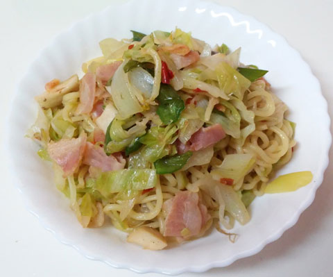 マルちゃん焼きそば ちゃんぽん味 完成!