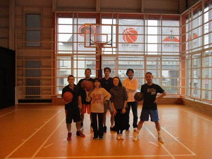 久宝寺でバスケ