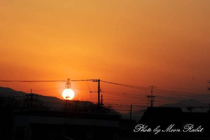 夕陽 愛媛県西条市神拝