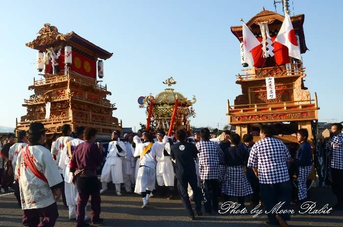 渡御行列 古町屋台(だんじり)  石岡神社祭礼