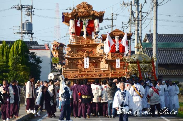 渡御行列 土居御神楽屋台(だんじり)  石岡神社祭礼