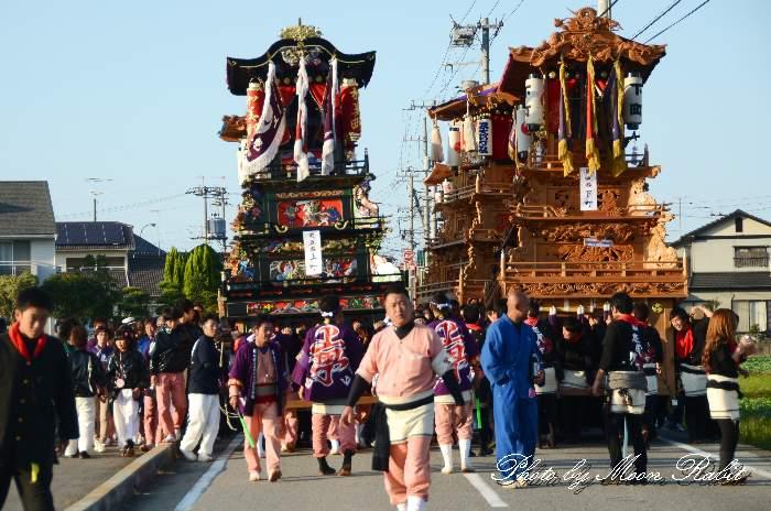渡御行列 下町屋台(だんじり)  石岡神社祭礼