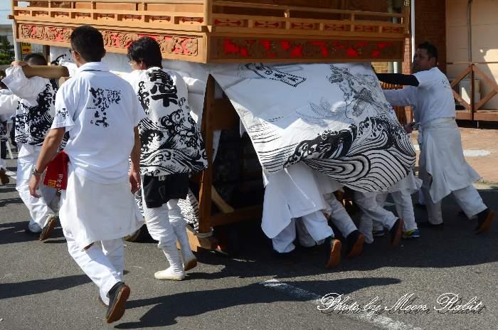 中南だんじり(屋台) 祭り装束 西条祭り