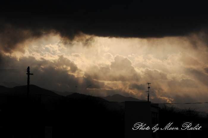 夕方の雲 愛媛県西条市神拝