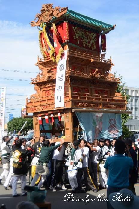 済生会敬老の日慰問運行 横黒屋台