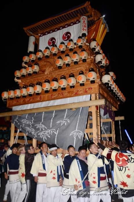 前夜祭 西町屋台(だんじり)