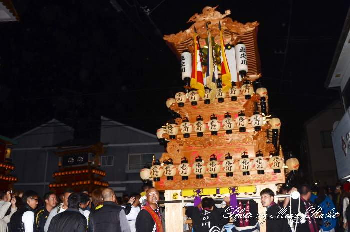 前夜祭 上之川屋台(だんじり)