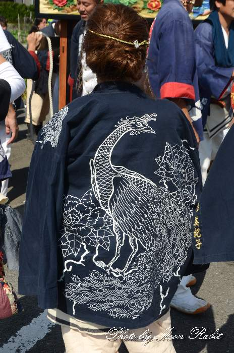楢之木だんじり(楢の木屋台) 法被 祭り装束 石岡神社祭礼