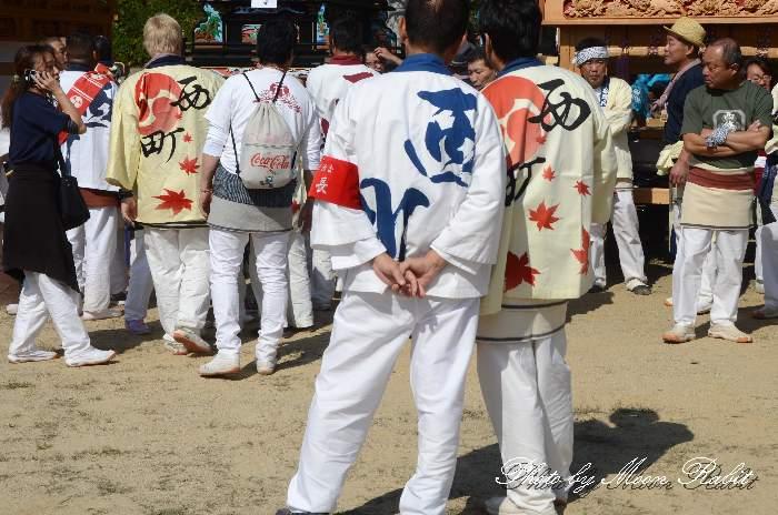 西町だんじり(屋台) 祭り装束 石岡神社祭礼