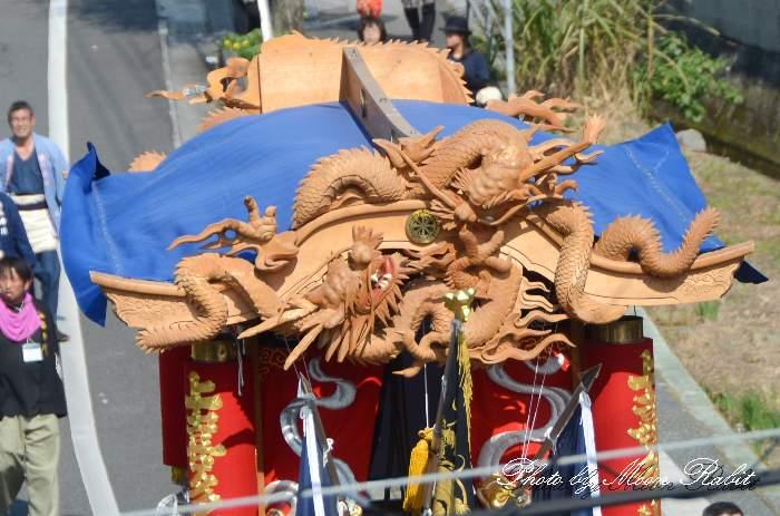 破風・天幕 上喜多川屋台(上喜多川だんじり) 西条祭り