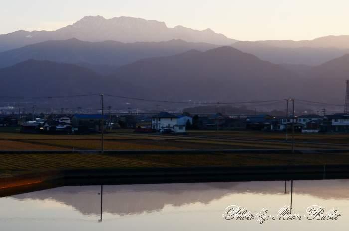 逆さ石鎚山 愛媛県西条市