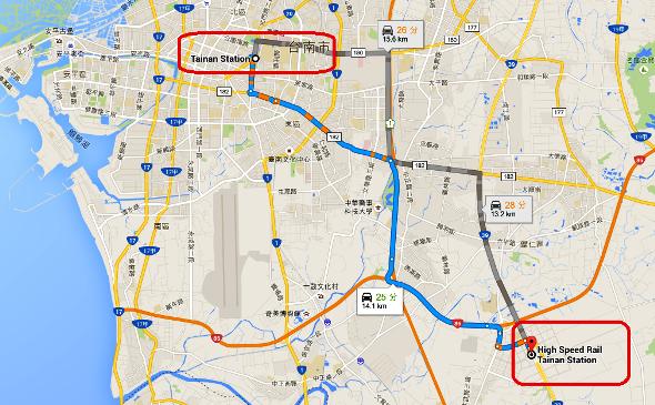 台南高鐵から台南駅