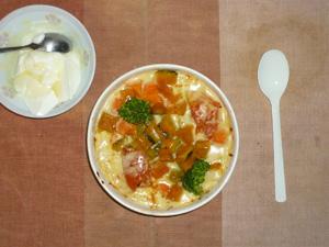 緑黄色野菜グラタン,オリゴ糖入りヨーグルト