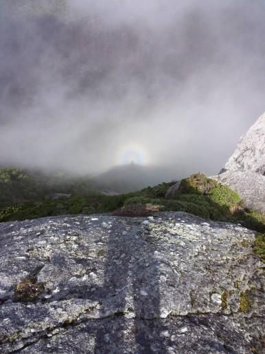 黒味岳からのブロッケン現象