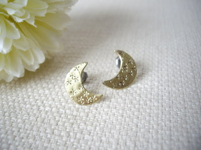 stud earrings moon