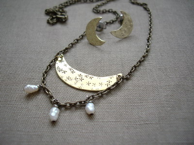crescent moon necklace?