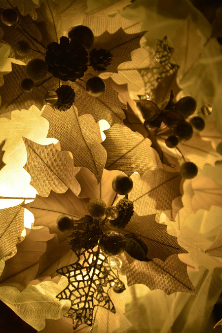 ブログ雪灯りの花1