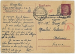 アウシュヴィッツからフランス人労働者の葉書