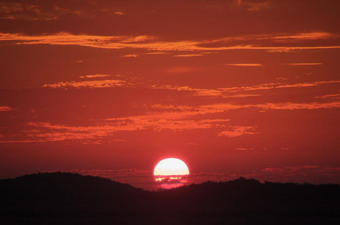 日の入り画像