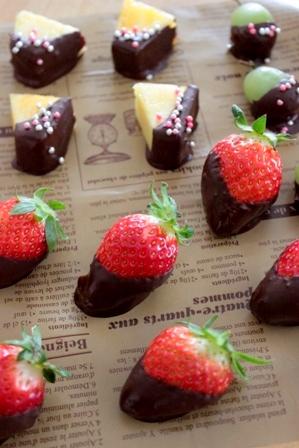 可愛いチョコフルーツ (3)